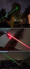 100mW Rechargeable Red Green Laser Pointer Party Pen Disco Light 5 Mile+ Battery