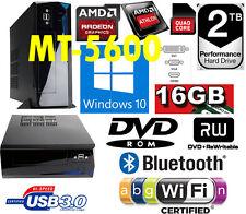 QUAD CORE 2TB 16GB RAM WINDOWS 10 64bit 2000GB USB 3.0 DVDRW WiFi BLUETOOTH