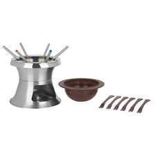 Trudeau Stainless Steel 17 Pc 3-in-1 Double Boiler Chaplin Fondue Set, Brand New