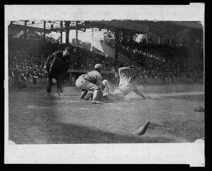 Umpire ready,make call,catcher,tag,Washington Senators,baseball,sliding,19 5125