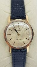 Omega Swiss Ladies 18k Gold Plated Watch Cal 625 Ref 511.021 Brushed Dial