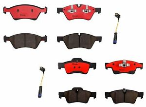 Front and Rear Brembo Brake Pads Set with Sensor Kit For Mercedes X164 W164 W251