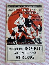 More details for rarely available england v scotland pre war international 14/4/1934 free p&p