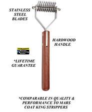 Master Grooming Tools 10 Blade Dog COAT STRIPPER Mat Breaker DEMATTING RAKE King