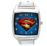 SUPERMAN FILM MOVIE SUPERHERO SILVER LEATHER SQUARE SCIFI COMICS CD DVD TV WATCH