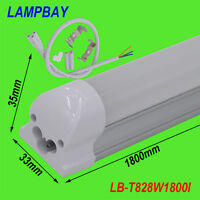 10-Pack T8 integrated 6ft(1.8m) 28W led tube with accessory lighting bar 85-277V