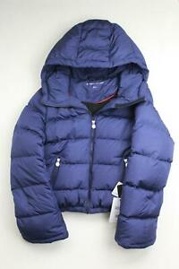 PERFECT MOMENT Womens Polar Flare Hooded quilted down ski jacket Medium Navy
