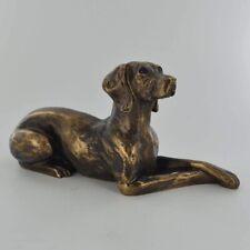 More details for weimaraner dog figure bronze effect by harriet glen (60132)