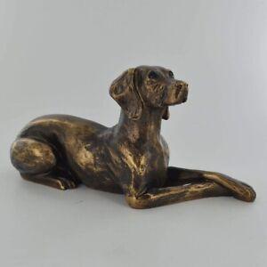 Weimaraner Dog Figure Bronze Effect By Harriet Glen (60132)