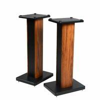 Wooden Hi-Fi Speaker Stands Home Theatre Bookshelf Surround Sound Support60-90CM
