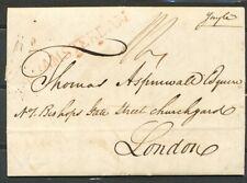 BRIEF AMSTERDAM 13 APR 1819 - LONDEN, ROOD GRENSST. AMSTERDAM MET STERREN, ZH501