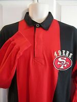 Vintage Mirage San Francisco 49ers Embroidered Colorblock L/S Polo Shirt XL NFL