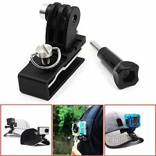 Aluminum Backpack Cap Clamp Clip Mount For GoPro Hero 5 4 3 Black Session Xiaomi