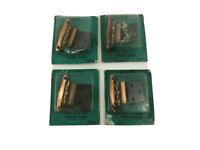 """NOS Vintage Lot 4 Utility Cabinet Hinges 3/8"""" Inset Satin Copper JCPenney S4"""