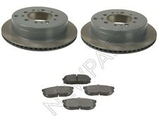Rear Disc Brake Rotors Vented & Pad Set KIT OEM Genuine For Lexus LX570 Tundra