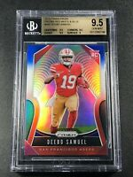 DEEBO SAMUEL 2019 PANINI PRIZM #346 RED WHITE BLUE REFRACTOR ROOKIE BGS 9.5 (A)