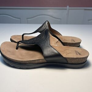 Dansko Priya Womens Size 41 10.5-11 Black Thong Sandals Flip Flop Slipper Slides