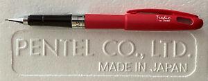 "Red ""No Rubber Grip"" Pentel Quicker Clicker Tradio 0.5mm Mech. Pencil w/ Cap"