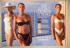 Bain de Soleil Tanning Lotion 2-Page PRINT AD - 1990 ~~ swimsuit