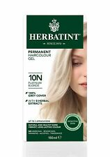 HERBATINT HERBAL NATURAL HAIR COLOUR DYE PLATINUM BLONDE 10N 150ml AMMONIA FREE
