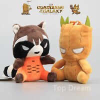 2X Guardians of the Galaxy Groot Rocket Raccoon Plush Toy Stuffed Animal Doll
