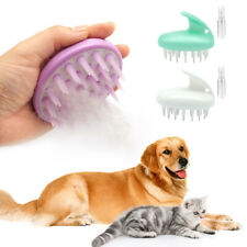 Dog Grooming Brush for Shedding Pet Massage Brush Soft Rubber Hair Fur Remover