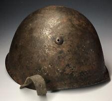 Original WW2 Italian M33 Helmet w/ Liner WWII World War