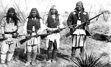 "Native American Indian Apache Chief Geronimo & Warriors 1886 7x4"" Reprint Photo"