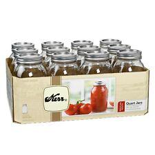 Kerr® Canning Mason Jars / Lids / Rings Quart 32oz Regular Mouth 12 Count Pack