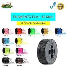 FILAMENTO 3D PLA+ 1.75mm COLORE NERO - 50 metri ALTA QUALITA' (CON BOBINA)
