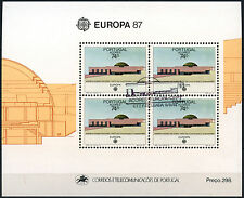 Azores 1987 Sg#Ms477 Europa Architecture Cto Used M/S Sheet #D40791