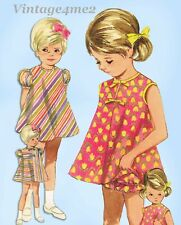 Butterick 4731: 1960s Easy Baby Girls Dress Sz 6 mos Vintage Sewing Pattern