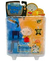 FAMILY GUY ACTION FIGURE: Stewie Griffin - Series 1 (Mezco 2004) MINT ON CARD