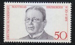 Germany 1975 MNH Mi 865 Sc 1201 Matthias Erzberger.WW1.Reich Minister of Finance