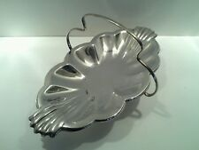 Small Silver Plated Art Deco Style Dish with Handle