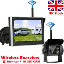 "Caravan Trailer Wireless Backup Camera + 5"" LCD Rearview Monitor Reversing Kit"