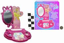 Chicas Clavos & Maquillaje Aderezo Espejo Chicas peinado Moda del cabello juego conjunto de juguete