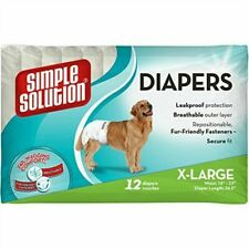 Simple Solution Disposable Diapers X-large 12-pk x 1 - Dog 12 Nappy Pack Large*