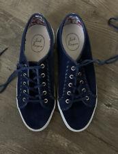 Jack Rogers Women'S Blue Suede Tennis Comfort Shoes Sz 10M