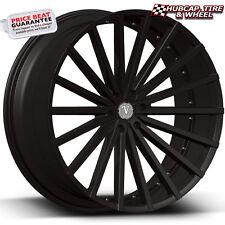 "Velocity VW17B V17B Matte Black 24""x9.5 Custom Wheel (ONE Rim) FREE Shipping"
