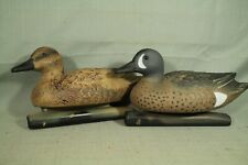 lot 2  Duck Decoys Blue  wing teal hen drake  game winner light weight plastic