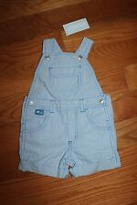 NWT Gymboree Hippos and Blues 18-24 Months Blue Striped Shortalls
