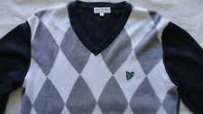 Lyle & Scott Jumper Argyle LYLE AND SCOTT Golf Mens Medium Mod Casuals 60's 80's