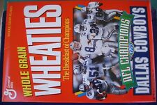 1993 DALLAS COWBOYS NFL CHAMPS WHEATIES Box Super Bowl Run Aikman (Unflatened)