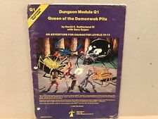 Vintage Dungeons And Dragons Module Lot D1-2 Q1 TSR 1980 Rare
