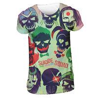 Official SUICIDE SQUAD Poster T Shirt White Sublimation Mens Unisex DC Comics