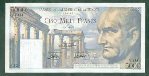 RARE BILLET DE 5000 FRANCS VESPASIEN DU 20 7 1950 TTB+