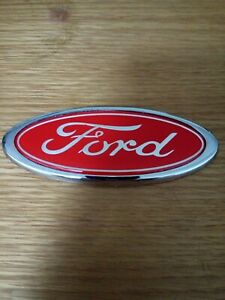 Ford mondeo rear badge red & silver emblem ford high quality free p&p
