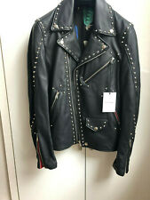 Authentic Paul Smith Leather Studded Biker Slim Fit Jacket Size S rrp € 2200