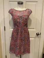 J. Crew Multicolor 100% Silk Spotted Print Dress, Size 0 (US)